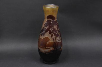 ETABLISSEMENTS GALLE (1904-1936). Vase balustre...