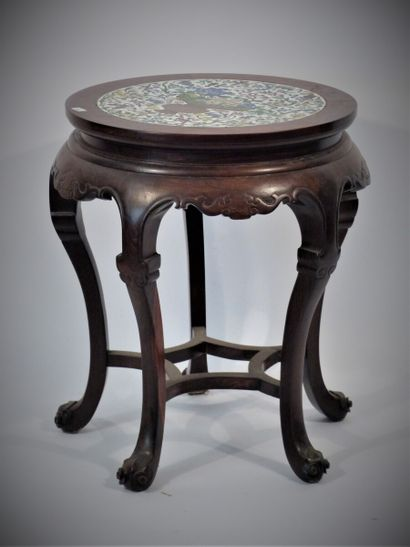 CHINE, Sellette circulaire en bois