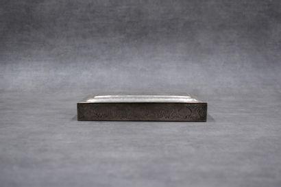 Boîte rectangulaire en argent ouvrant par...