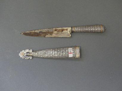 Couteau argentin de gaucho. Poignée et fourreau...