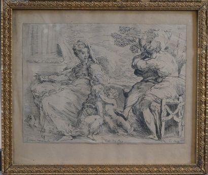 Girolamo MAZZOLA BEDOLI (c.1500-1569), Saint-Joseph et la Vierge