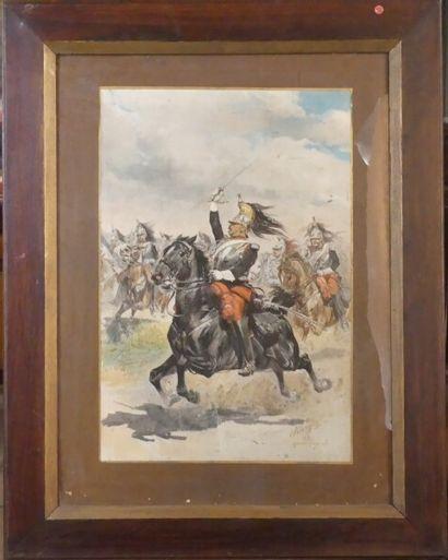 D'après Edouard DETAILLE (1848-1912), Garde Impériale