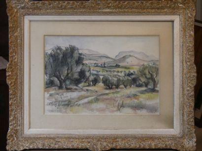 Paul WELSCH (1889-1954), Paysage à Sanary