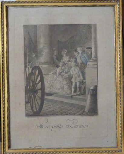 Jean-Charles BAQUOY (1721-1777),  Les petits Parrains