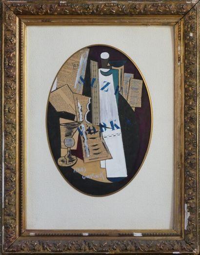 Arnold GUERLINCK (né en 1946). Composition au verre.
