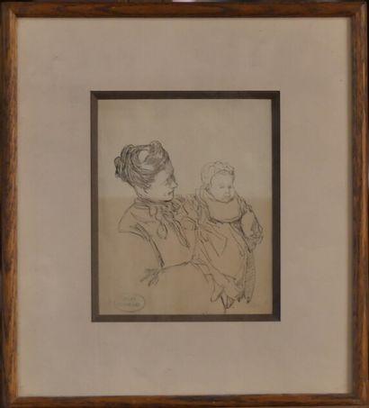 Charles Paul RENOUARD (1845-1924), Femme et enfant