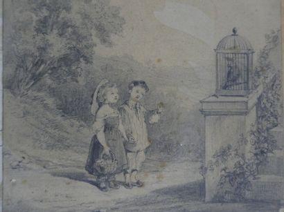 Alexis PERGNON (1806-1982), Jeunes enfants
