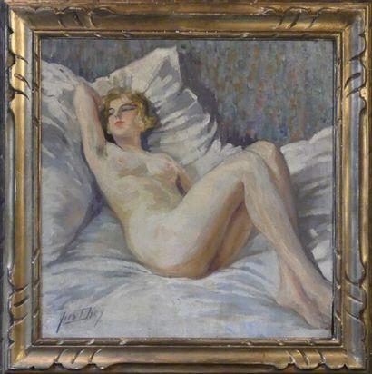 Yves THIEY, Nu de femme allongée