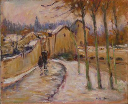 André WILDER (1871-1965), Promenade