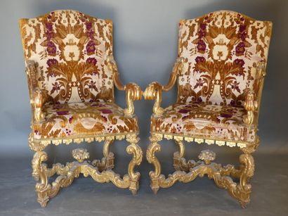 Paire de fauteuils de Palais. Italie XVIIIème siècle.