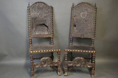 Renaissance Espagnole. Suite de dix chaises.