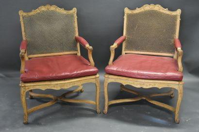 Quatre fauteuils Régence.