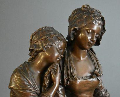 Hippolyte François MOREAU (1832-1927), Bronze.