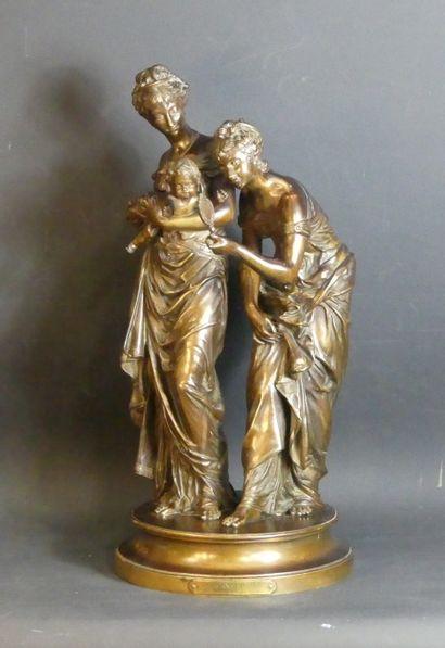 Adrien-Etienne GAUDEZ (1845-1902), Bronze.