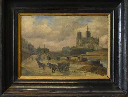 Ecole du XIXe siècle. Notre dame de PARIS.