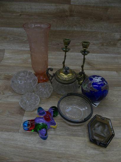 Carton comprenant divers objets de verrerie...