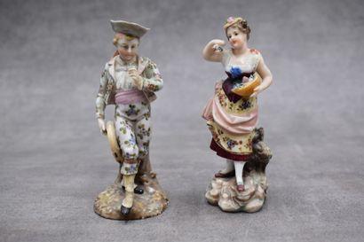 Couple en porcelaine blanche
