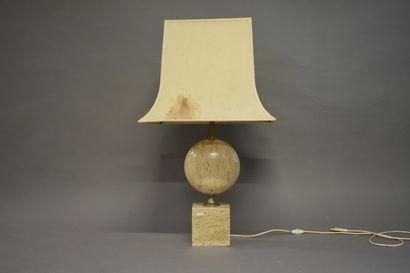 Philipe BARBIER (1927). Lampe à poser en...