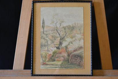 attribué à Karl ENDERLEIN (1872-1958) : Paysage