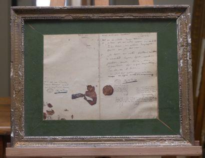 Reproduction du testament de Napoléon Ier