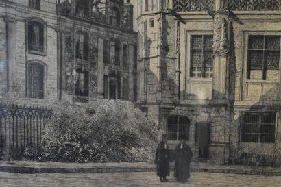 NICOLI. Vue du Pailais de justicie de Rouen