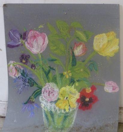 Jacqueline ROINEL, Bouquet de fleurs