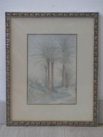 Karl ENDERLEIN (attribué à), Paysage
