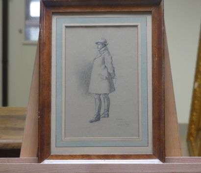 Maurice RAY, Homme au chapeau et bottes de cuir