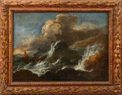 """Attribué à PLATTEMONTAGNE Matthieu de (Anvers 1607 / 08 – Paris 1660)  """"Scène de..."""