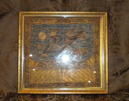 Emblème de fonctionnaire, Chine, XIXème siècle,...