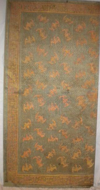 Panneau d'un demi Kang, Chine, dynastie Qing,...