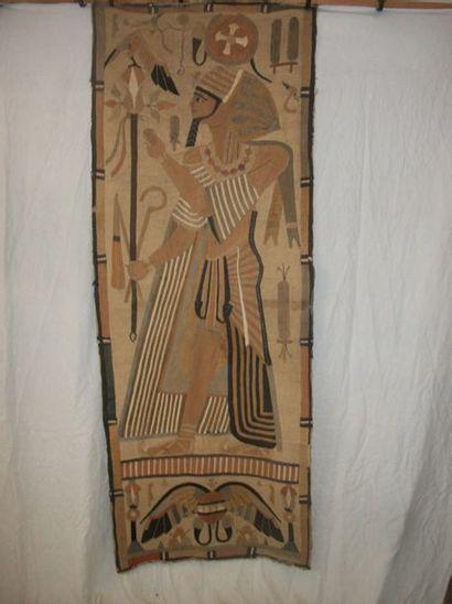 Tenture, Egypte, décor en application de...