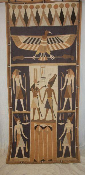 Tenture, Egypte, décor de mastaba en application...