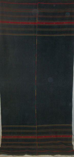 Tenture bédouine, Syrie, toile noire rayée...