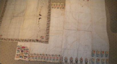 Réunion de cinq serviettes rituelles, Turquie...