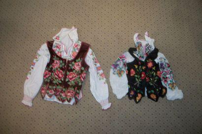 Deux gilets et chemises, Pologne, Zakopan,...
