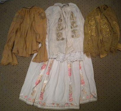 Trois chemises et une jupe, Slavonie, coton...