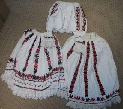 Deux jupes et une chemise, Slovénie, coton...