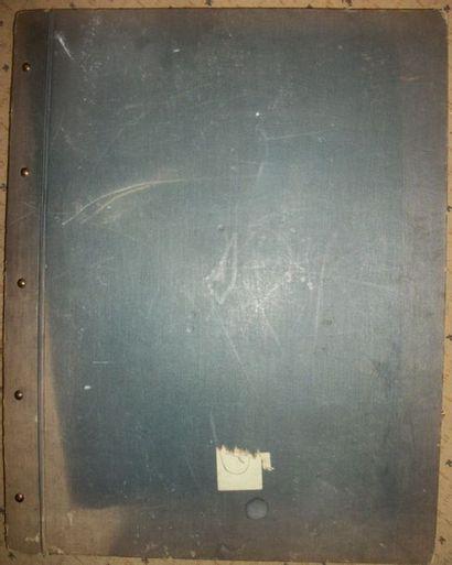 Album de papiers peints, circa 1930, rayures...