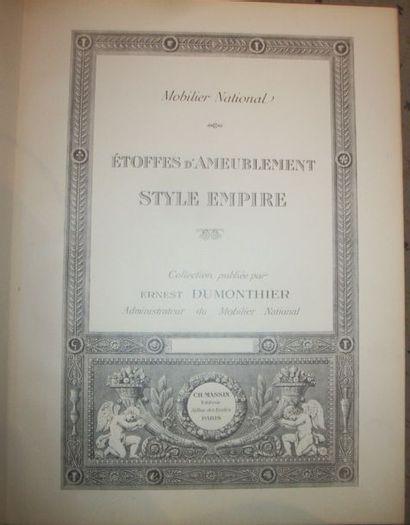 Ernest Dumonthier, Étoffes d'Ameublement,...
