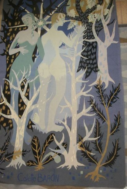 Colette Bardin (XXème - ), « Muses au Bois...