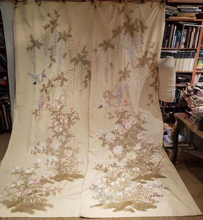 Paire de rideaux et une cantonnière, Chine...
