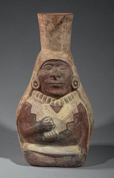 Vase anthropomorphe Assis sur ses jambes,...