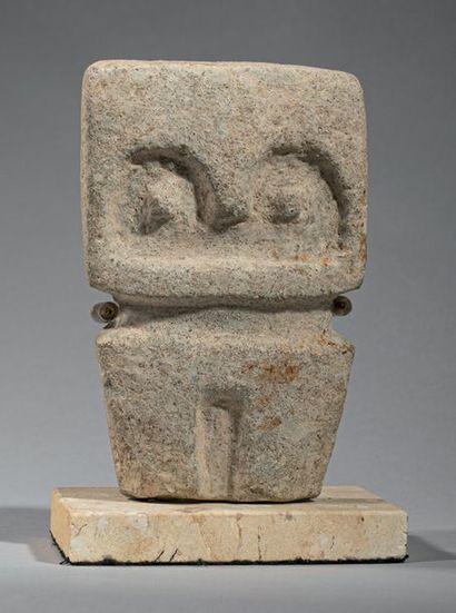Sculpture représentant un chamane La silhouette,...
