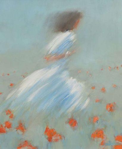 Pierre DOUTRELEAU ( Né en 1938)  Jeune femme...