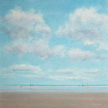 Pierre DOUTRELEAU ( Né en 1938)  La plage...