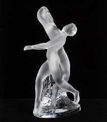 Lalique France  Les deux danseuses  Statuette...
