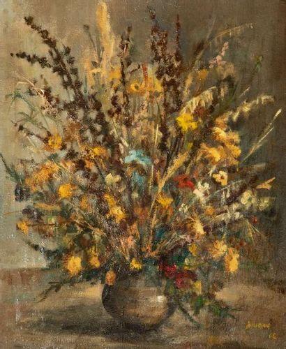 Ecole française du XXème siècle  Bouquet...