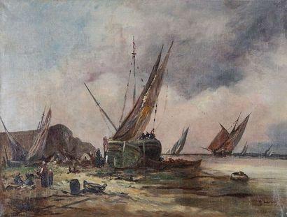 GEORG LUCAS (1893-1983)  Le départ en mer...