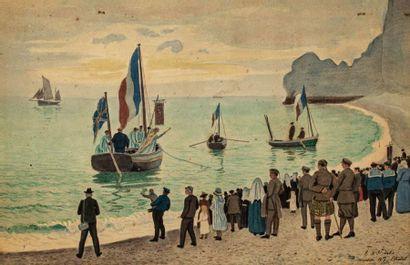 RENÉ DE SAINT-DELIS (1873-1958)  Cérémonie...